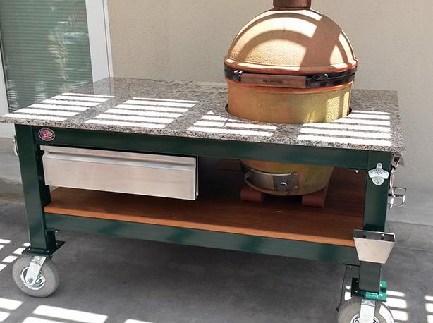 Big green egg grill in addition bayou classic cypress ceramic grill