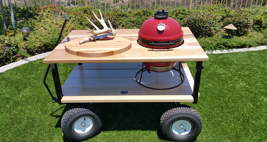 Perfect This Custom Table Was Designed For The Adventurer! Built To Take On The  Road, This Table Will House A Mini Or Regular Size Kamado Joe ...
