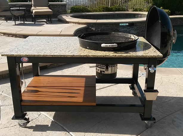 Brian Alan Tables Custom Built Kamado Style Cooker Tables